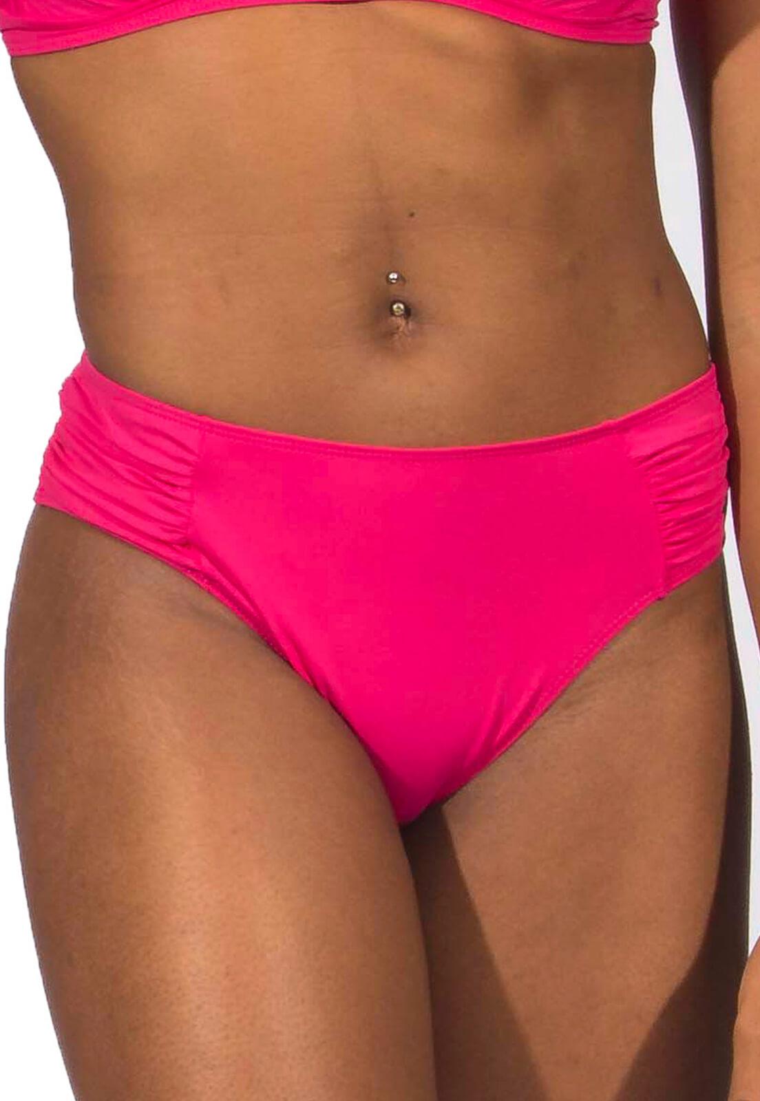 Biquíni plus size franzida rosa