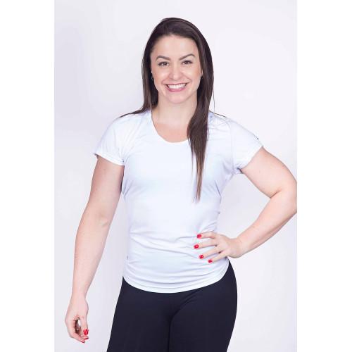 Camiseta Fitness com Proteção UV Branco