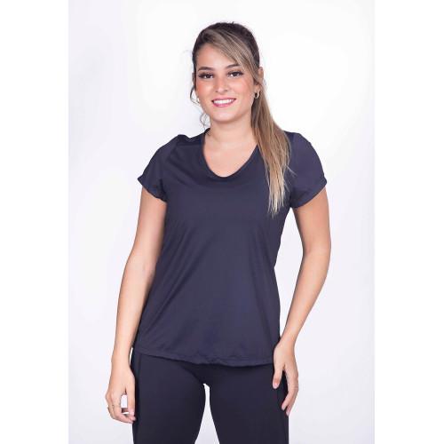 Camiseta Fitness com Proteção UV Preto